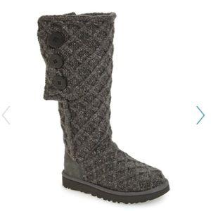 UGG Lattice Cardy UGGpure(TM) wool Knit Boot Sz 7